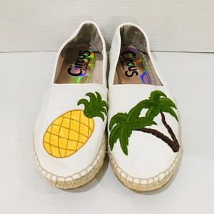 Circus Sam Edelman Leni Pineapple Palm Tree Flats